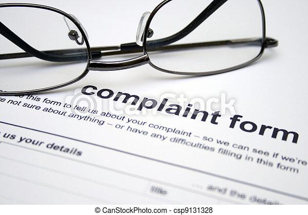 plainte, formulaire - csp9131328