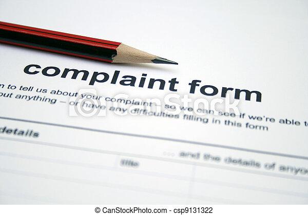 plainte, formulaire - csp9131322