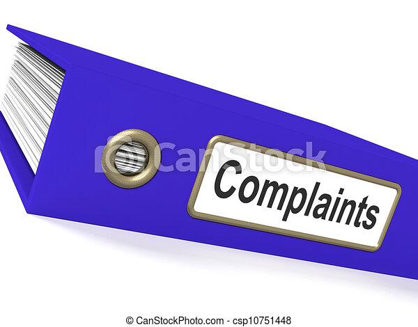 plainte, rapports, disques, fichier, plaintes, spectacles - csp10751448