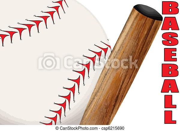 plakát, baseball - csp6215690