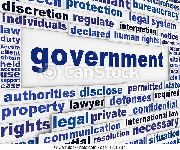 plakat, begriff, regierung - csp11378787