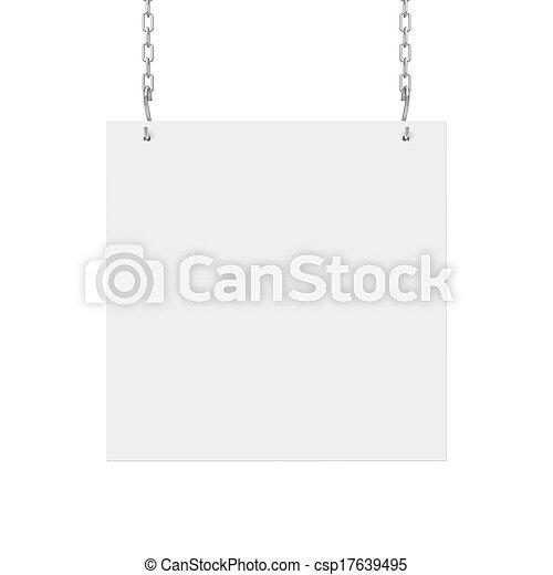plakat, hängender  - csp17639495