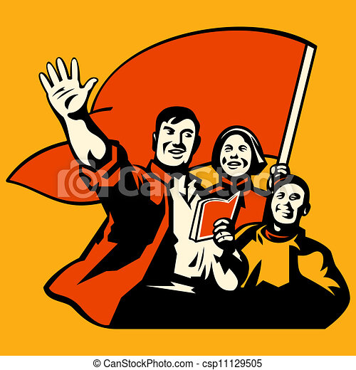 plakat, propaganda - csp11129505