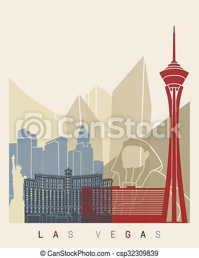 Las Vegas Skyline Poster - csp32309839