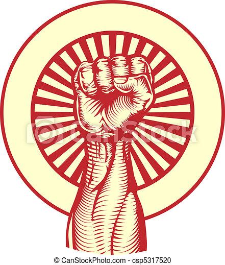 plakat, stil, sowjetisch, propaganda, faust - csp5317520