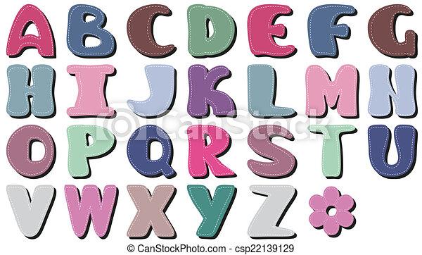 plakboek, witte , alfabet - csp22139129