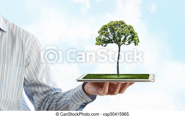 planète, concept, vert - csp30415965