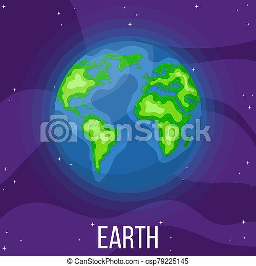 planète, dessin animé, style, space., coloré, vecteur, design., illustration, n'importe quel, la terre, univers, earth. - csp79225145