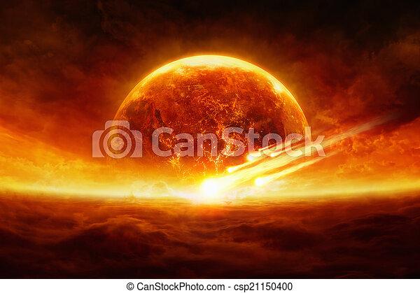planète, exploser - csp21150400