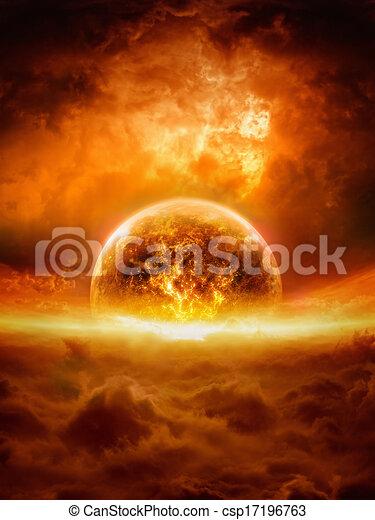planète, exploser - csp17196763