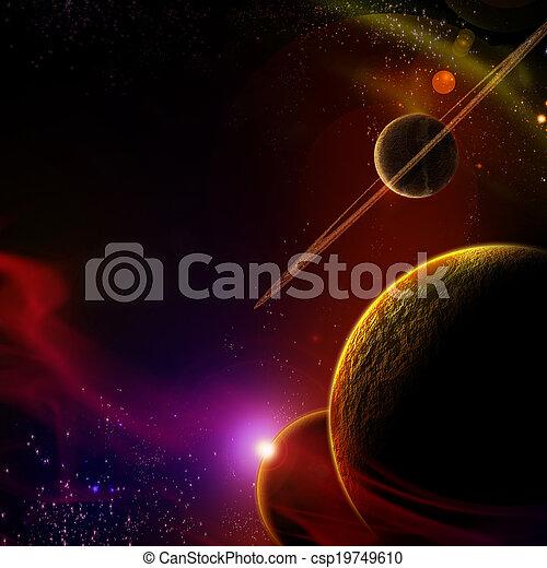 planète, levers de soleil - csp19749610
