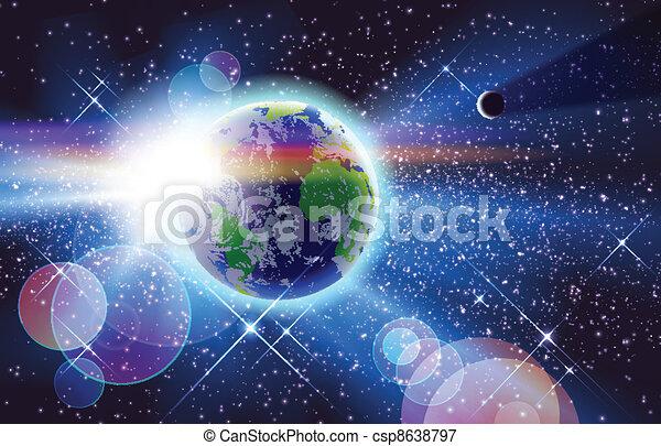 planète, soleil, &, la terre, espace - csp8638797
