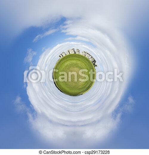 planète, stonehenge, minuscule - csp29173228