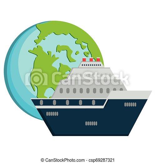 planète, voyage mondial, croisière bateau - csp69287321