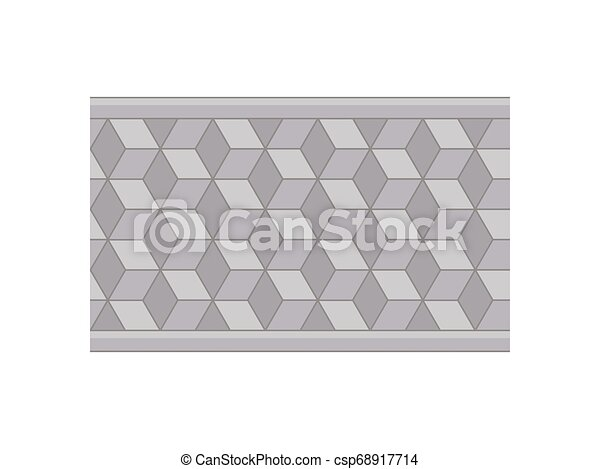 Plan a garden path of tiles. View from above. Vector illustration. - csp68917714
