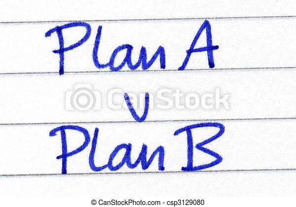 Plan A v Plan B. - csp3129080