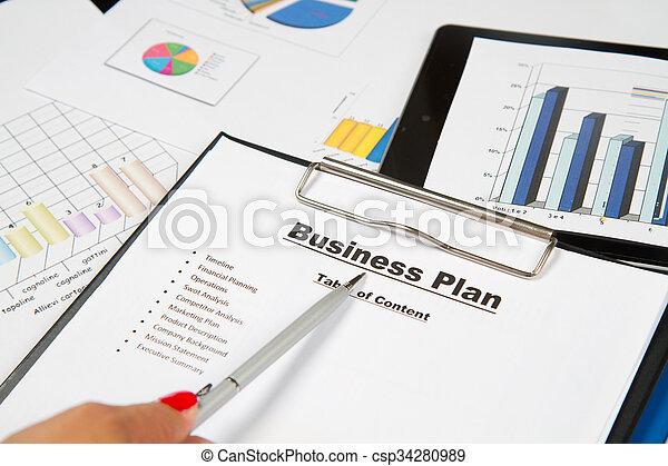 plan, affär - csp34280989