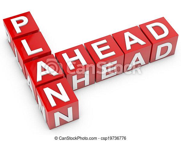 Plan Ahead - csp19736776