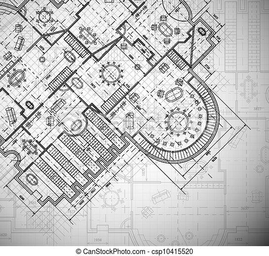 plan, architecturaal - csp10415520