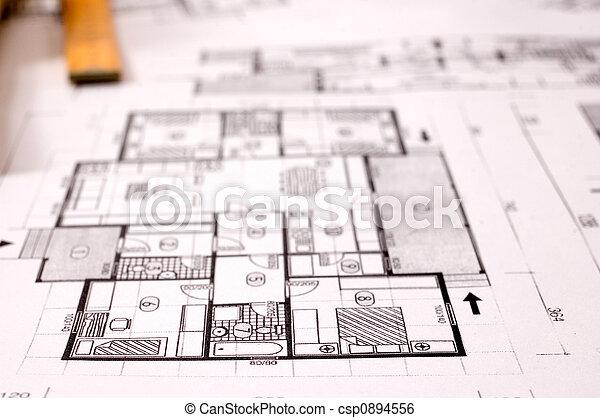 plan, architectuur - csp0894556