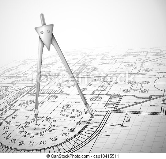 Plan de arquitectura con brújula - csp10415511