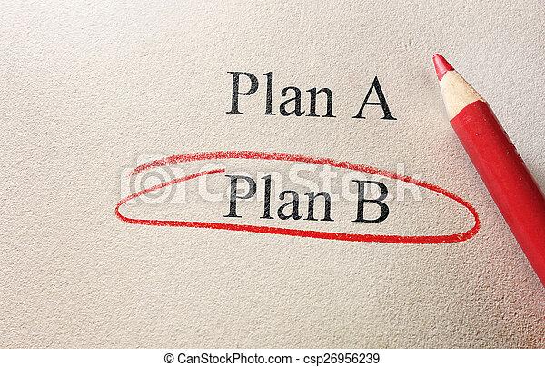plan, b, concept - csp26956239