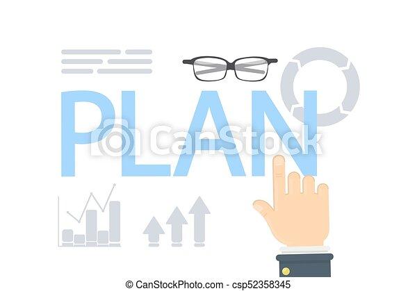 Plan concept illustration. - csp52358345