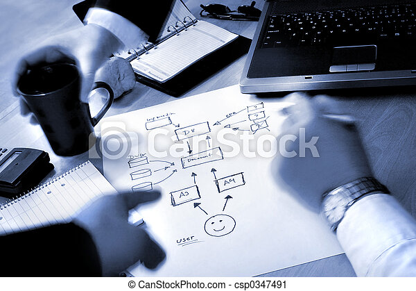 plan, empresarios - csp0347491
