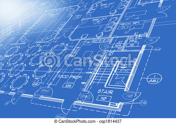 Plan generated by computer blueprint stock illustrations search plan generated by computer csp1814437 malvernweather Gallery