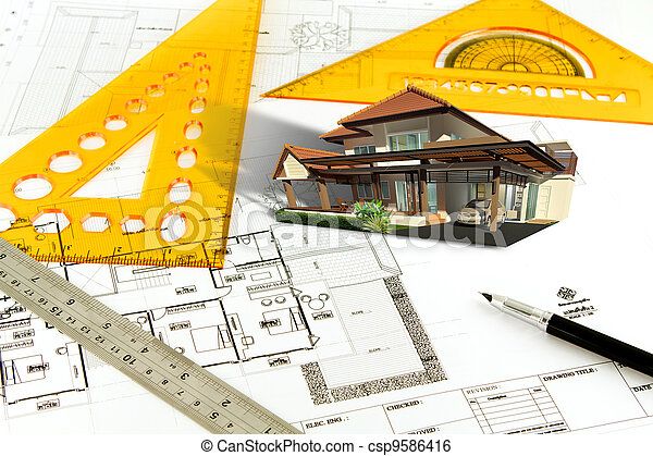 Plan Maison Dessiner Main Canstock