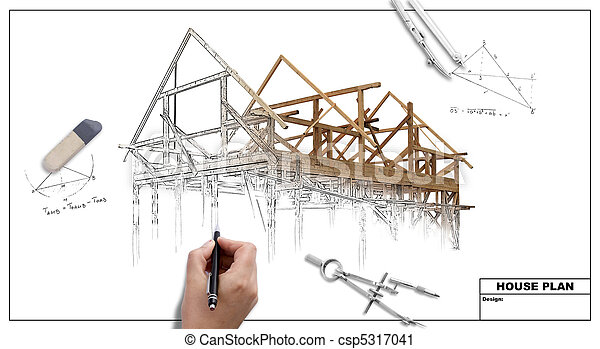 plan, maison - csp5317041