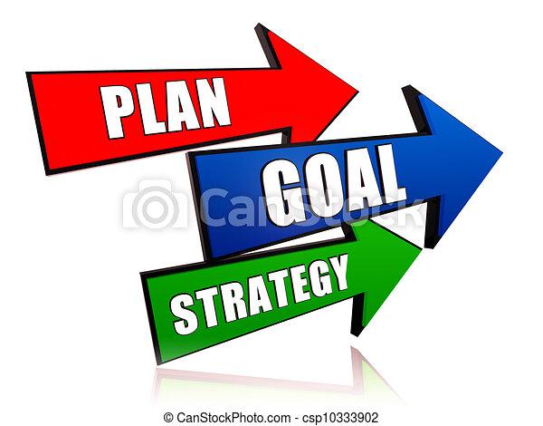 Plan, gol, estrategia - csp10333902