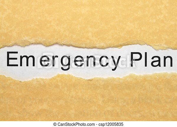 plan, notfall - csp12005835