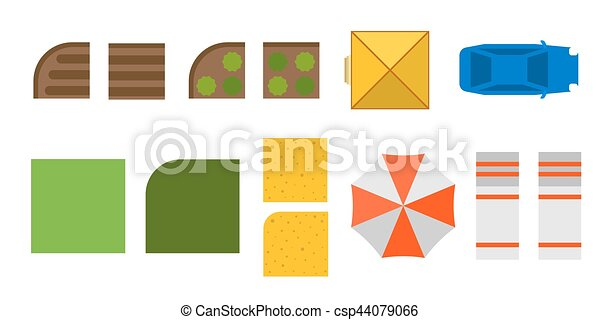 Plan of private house vector illustration - csp44079066