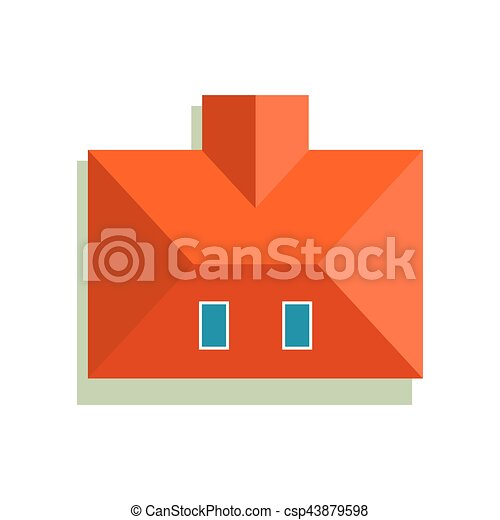 Plan of private house vector illustration - csp43879598