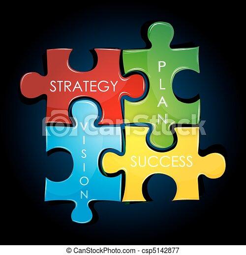 plan, stratégie commerciale - csp5142877