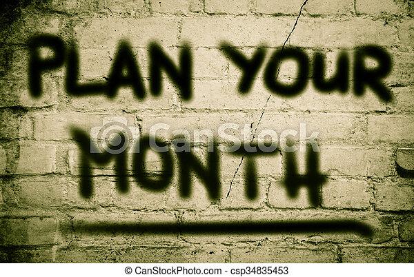 Plan Your Life Concept - csp34835453