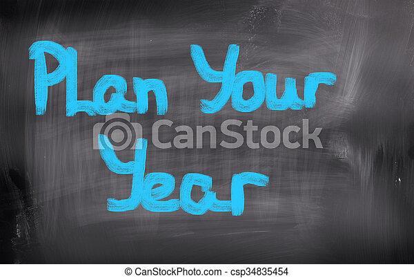 Plan Your Life Concept - csp34835454