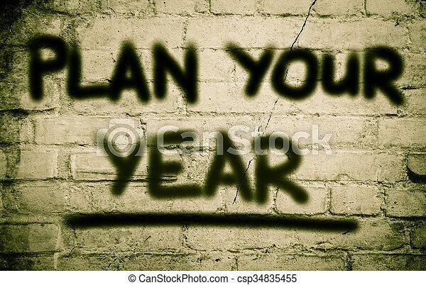 Plan Your Life Concept - csp34835455