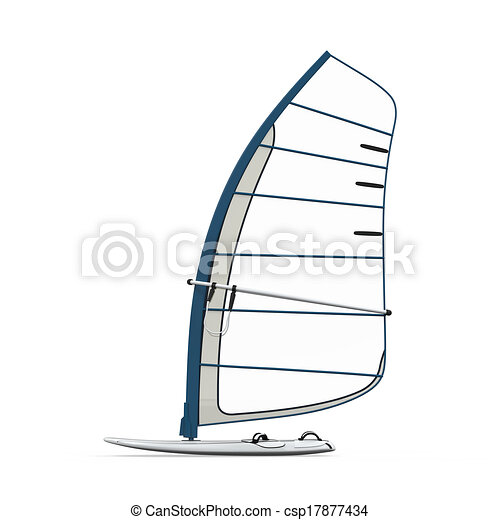 Planche A Voile Isole Render Isole Arriere Plan Planche A Voile Blanc 3d Canstock