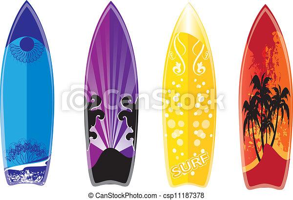 Ensemble Planche Surf Canstock