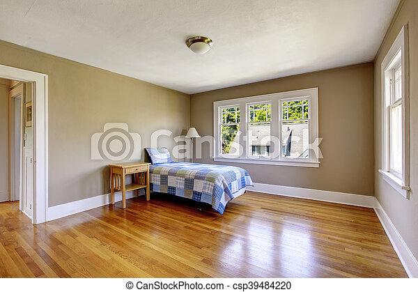 plancher bois dur murs beige chambre coucher. Black Bedroom Furniture Sets. Home Design Ideas