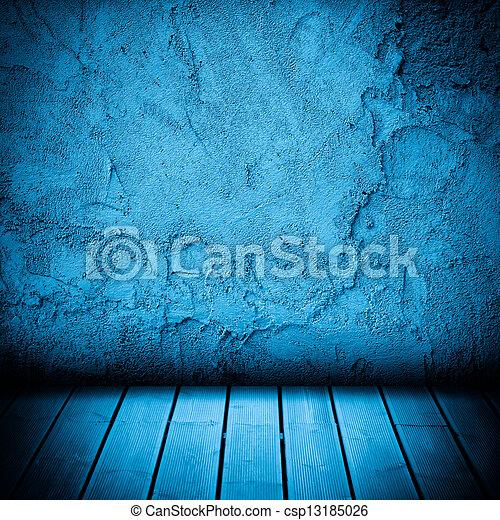 plancher, mur, béton, bois, fond, textured - csp13185026