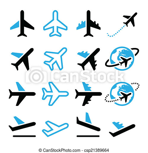 plane flight airport icons set vector icons set of flying clip rh canstockphoto com clip art construction worker clip art construction images