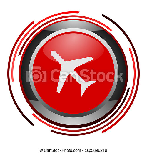 plane glossy icon - csp5896219
