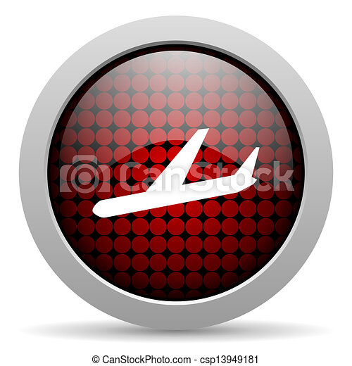 plane glossy icon - csp13949181