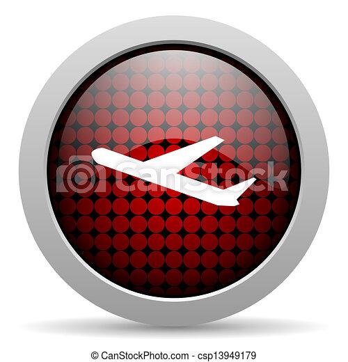 plane glossy icon - csp13949179