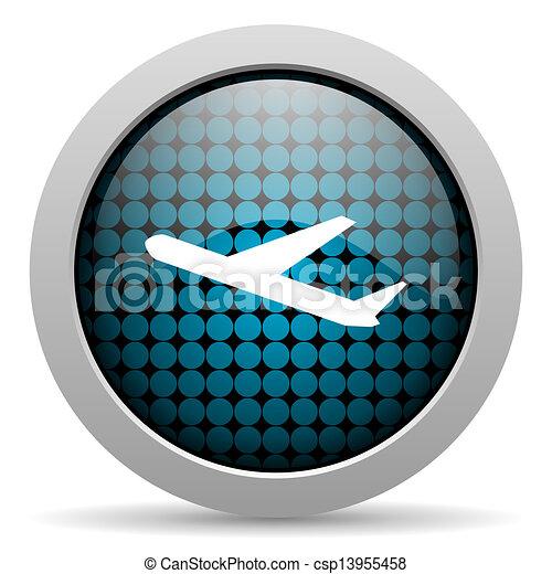 plane glossy icon - csp13955458