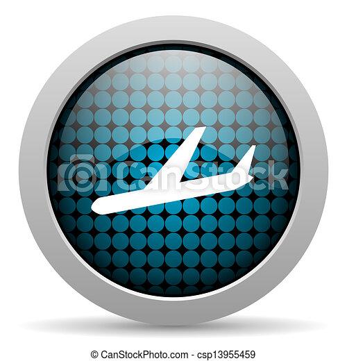 plane glossy icon - csp13955459