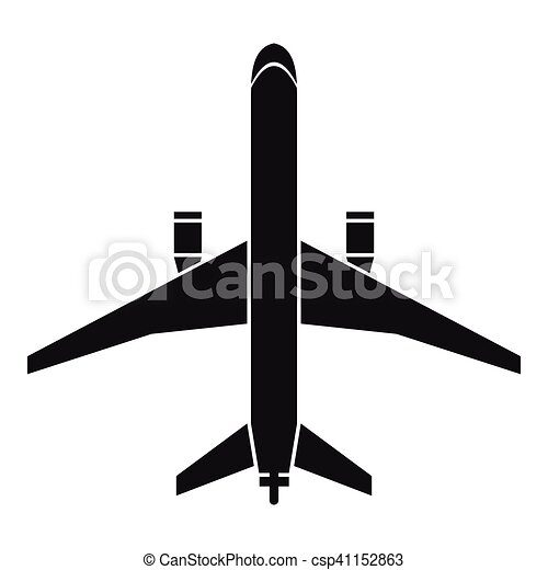 plane icon simple style plane icon simple illustration of clip rh canstockphoto com clipart planet clip art plane tickets